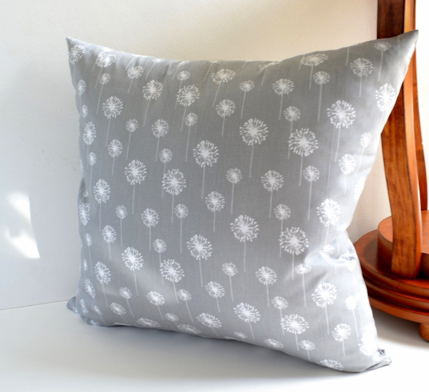 Throw Pillow Euro Sham : Pillow Cover Gray Decorative Throw Pillows Euro Sham Cushion