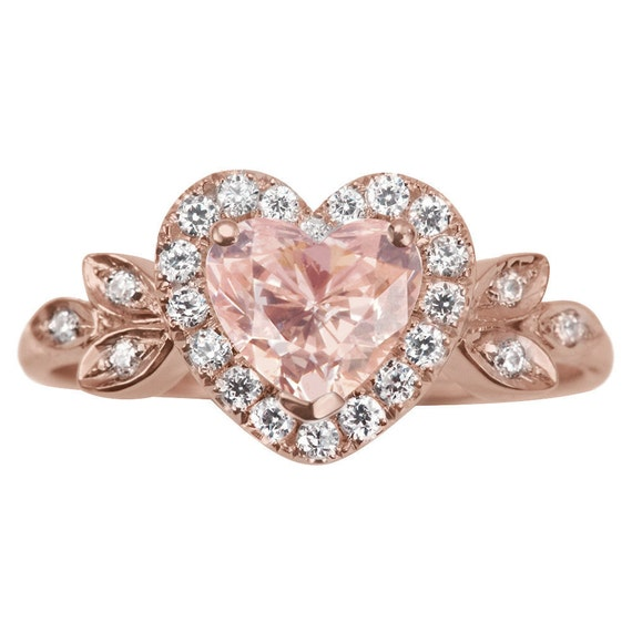 Engagment Pink Heart Ring
