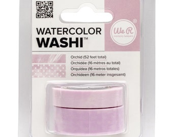 Watercolor Washi Tape in Orchid Color - 2 Rolls, 52 Feet Total, from We R Memory Keepers