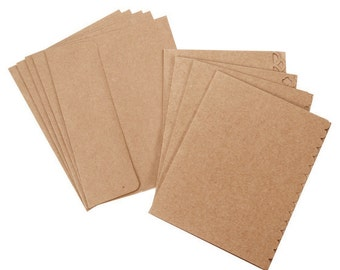 Kraft Cards and Envelopes with Decorative Borders 40 Sets for Handmade A2 Cards by Darice