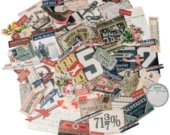 "Tim Holtz Idea-Ology Ephemera Pack, ""Emporium"" Design, 70 embellishments"