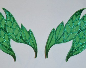 Deluxe Poison Ivy Style Costume Eyebrows Mask Green Glittery 4 styles Ombre FREE UK Delivery