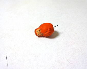"""0.9in Vintage Japanese Miniature """"DARUMA"""" Doll"""