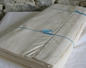 Pair of unused metis sheets large French linen union sheets in original package