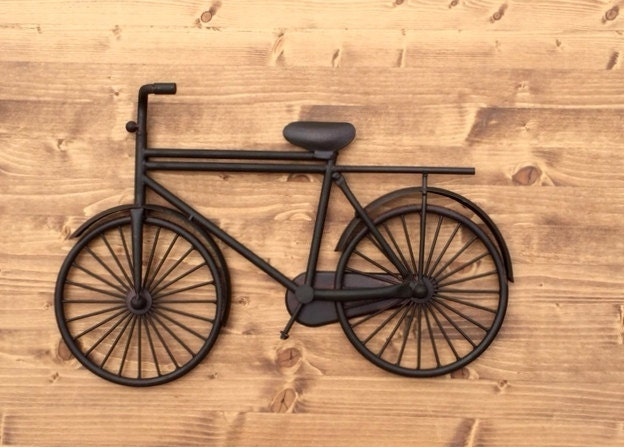 Metal Wall Decor Bicycle : Vintage bicycle wall decor rustic distressed industrial metal