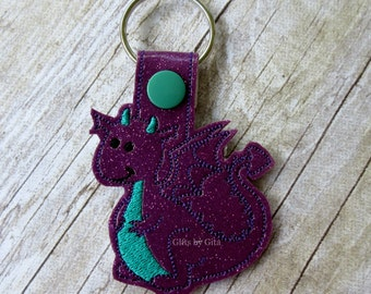 dragon key chain, vinyl dragon mythical fairy tale creature