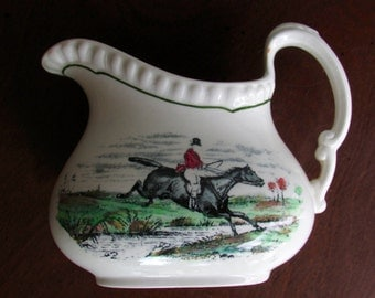 Copeland Spode Creamer Leaping the Brook and Taking the Leap Made in England