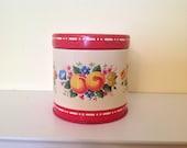 Vintage Decorative Tin with Fruit Motif