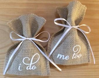 Ring Bearer Bag - Wedding Ring Holder - Burlap Wedding Ring Bags - Wedding Ring Box or Ring Pillow Alternative - Wedding Ring Case
