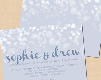 Winter's Snow Reception Invitation (7x5, Landscape): Text-Editable, Printable, Instant Download