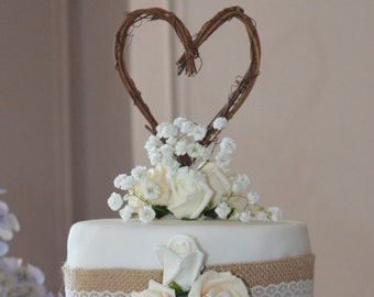 Rustic Bridal Shower Decor, Vine Cake Topper, Country Decor, RUSH Order