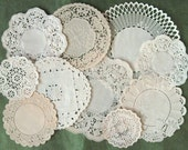 Antique paper doily set of 10 pretty vintage doilies - Just lovely