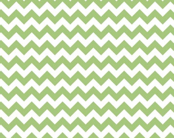 Riley Blake Cotton fabric by the yard... Green Chevron