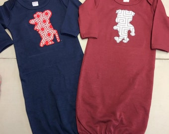 Collegiate Baby Gowns... Monag Gowns 0-3 months..