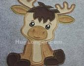 Applique Baby Moose embroidery file