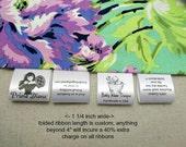 1000 Custom Satin Labels - Folded