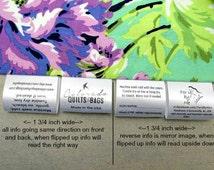 60 Custom Satin Labels ~ Folded  ~