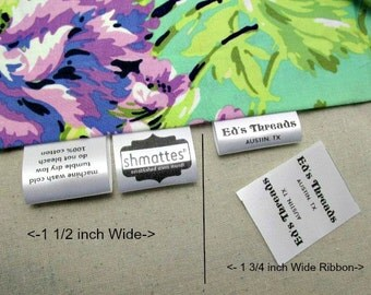 230 + 20 Free Custom Satin Labels - Folded  ~