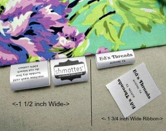 400 Custom Satin Labels - Folded  ~