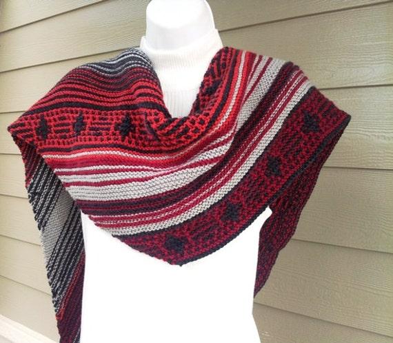 navajo sunset asymetrical scarf pdf knitting pattern from