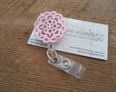 Retractable Badge Reel, ID Holder, Pink Badge Clip, Lanyard, Pink Cut Out