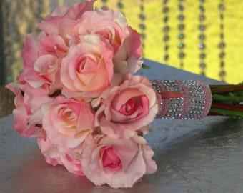 Rose Wedding Bridal Bouquet Pink