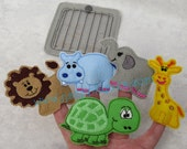 ITH Zoo Animals Finger Puppet Set with Carry Case Digital Embroidery Designs - Instant Download