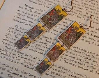 Tarot earrings tarot jewelry dangle earrings The Empress mixed media jewelry supernatural