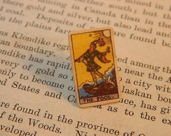 Tarot Lapel Pin The Fool Mini Pin tarot jewelry mixed media jewelry
