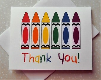 Crayon Thank You Cards 8ct