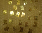 Large Lot  of Vintage Brass Book Pendant Charms - 30 Pieces