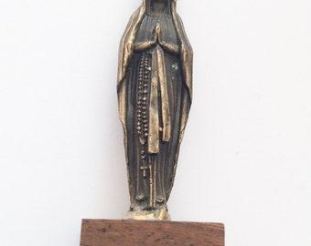 French Religious Saint Statue Lourdes Vintage WINTER SALE
