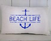 50% CLEARANCE SALE Decorative pillow, beach decor, nautical decor, shabby chic, farmhouse decor, beach pillows, accent pillows, sand dollar,