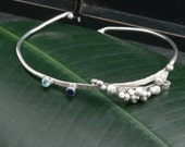 Sapphire and Blue Topaz Water Bracelet in Sterling Silver