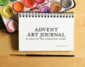 Advent Art Journal 4x6 - Nativity Advent Calendar Printable Christmas Crafts Kids Art Journal Bible Art Journaling Kids Activity