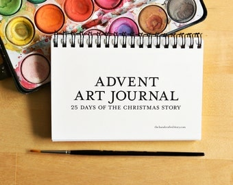 Advent Art Journal 4x6 - Nativity Advent Calendar Printable Christmas Crafts Kids Art Journal Bible Art Journaling Kids Activity
