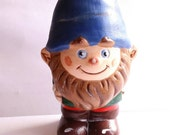 Ceramic gnome boy 6'inch handpainted is looking for a forever home