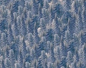 Fabric Denim Pine Trees Silent Flight Owl bty sewing quilting crafts James A Meger