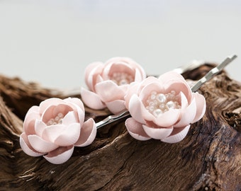 715_Pink flower pins, Flower hair accessories, Wedding hair accessories, Bridal hair accessories, Wedding headpieсe, Flower hair clips, pin