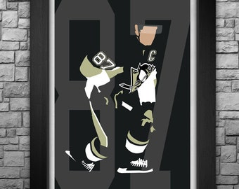 Sidney Crosby MINIMALISM limited edition art print. Available in 3 sizes!