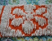 Pumpkin Orange Vintage Chenille Fabric