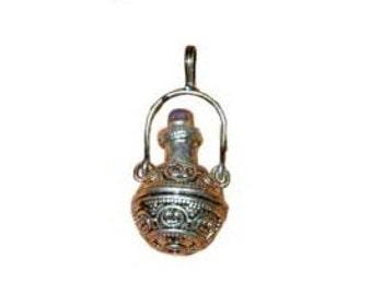 Aroma Bottle Pendant - Perfume bottle, Tincture bottle, Small bottle, Bottle necklace, Oil bottle pendant, Tiny bottle