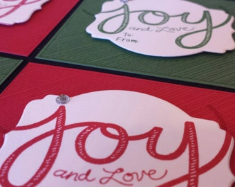 Joy and Love Christmas Tags - set of 6