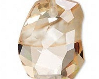 Swarovski 48mm Golden Shadow Divine Rock Pendant 6191