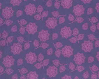 Eden by Tula Pink for Free Spirit - Henna - Amethyst - FQ - Fat Quarter - Cotton Quilt Fabric 516