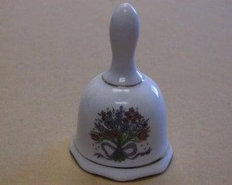 Vintage Floral Porcelain Bell