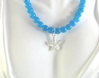 Girls starfish necklace