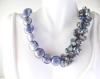 Purple beaded jazzy necklace