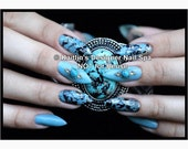 Truly Turquoise Gel Artificial Nail Art As Seen In NAILS Magazine January 2016