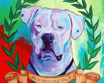 Custom Pet Portrait 16 x 20 // Colorful Dog Portrait // Cat Portrait // Acrylic Painting // by Corina St. Martin